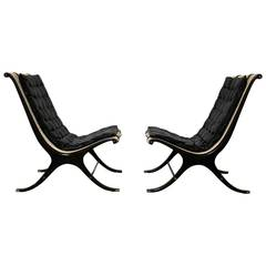 Pair of Lounge Chairs by Gerald Jerome