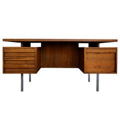 Walnut executive desk by John Keal