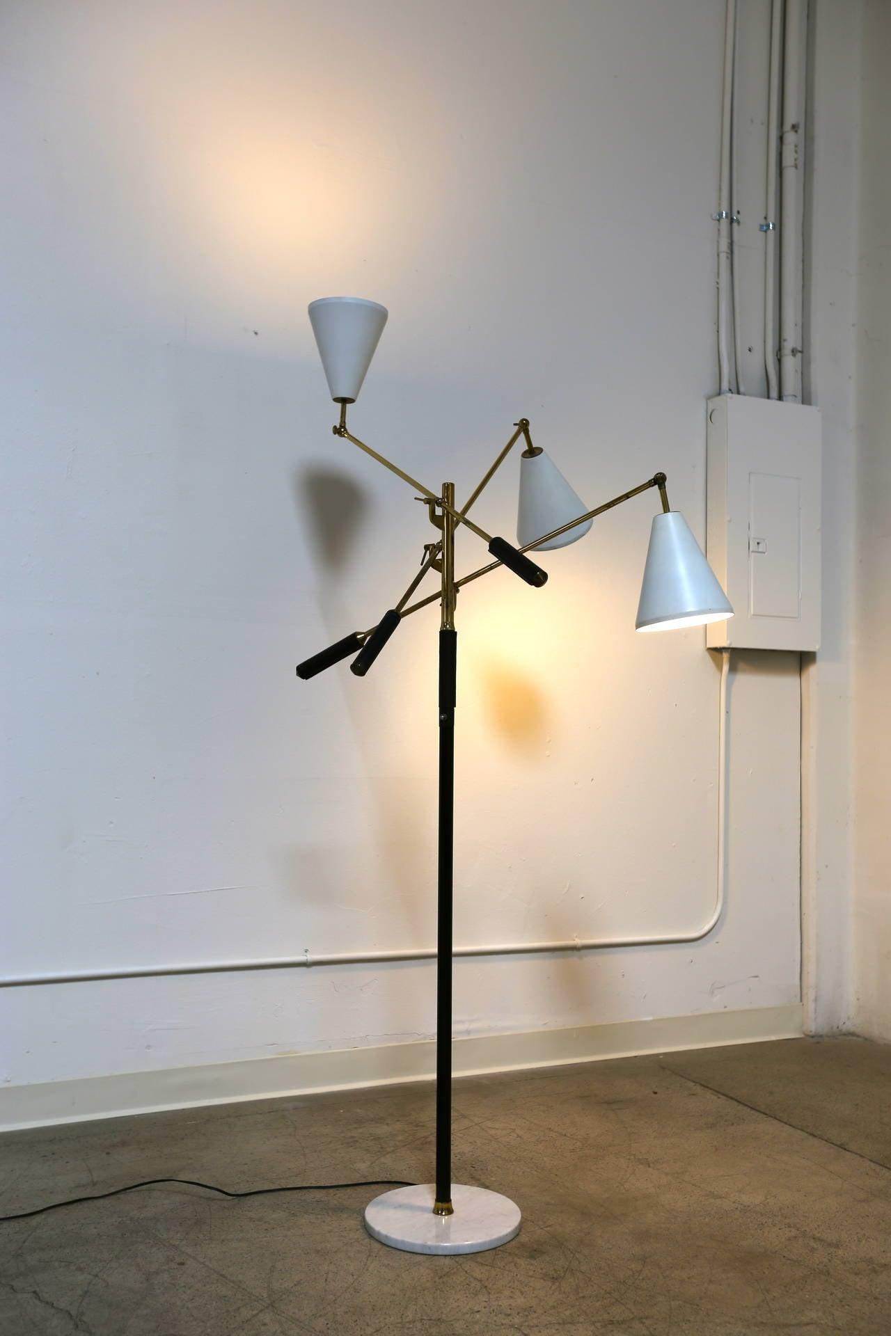 Triennale floor lamp by arredoluce at 1stdibs for Arredo luce