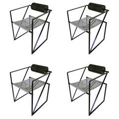 Set of Four Seconda 602 Armchairs by Mario Botta
