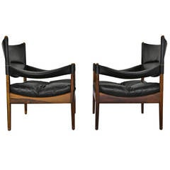 Pair of Kristian Solmer Vedel Rosewood Modus Chairs