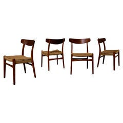 Set of Four Hans Wegner Ch-23 Dining Chairs