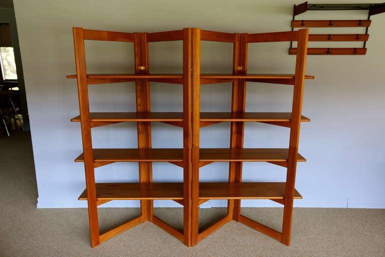 Danish Teak Bookcase Display Room Divider