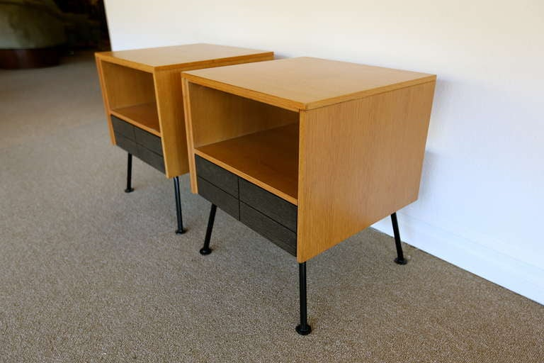 Pair of nightstands designed by Raymond Loewy at 1stdibs