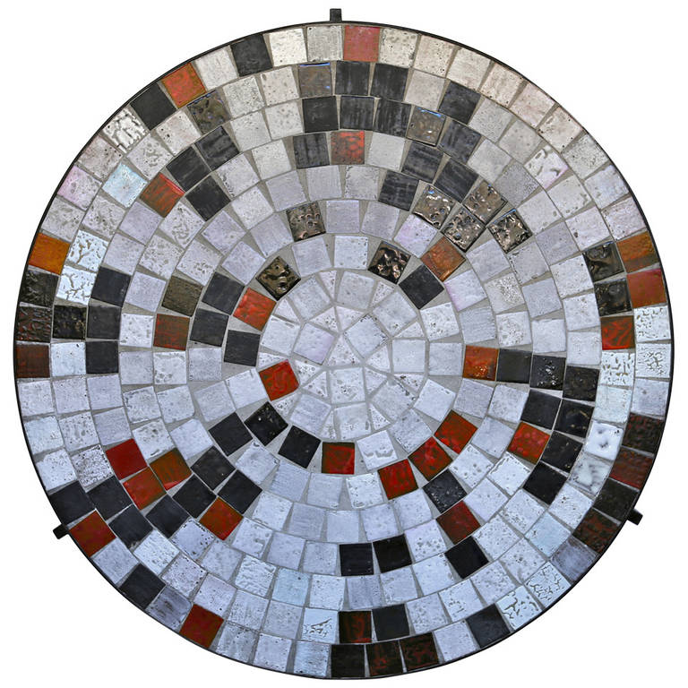 Round Tile Top Coffee Table For Sale At 1stdibs