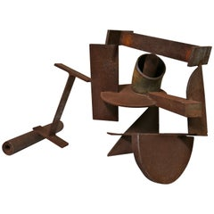 Abstract Steel Patinated Sculpture by Kim Nelson