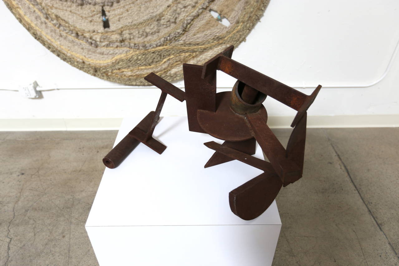 Abstract Steel Patinated Sculpture by Kim Nelson For Sale 2