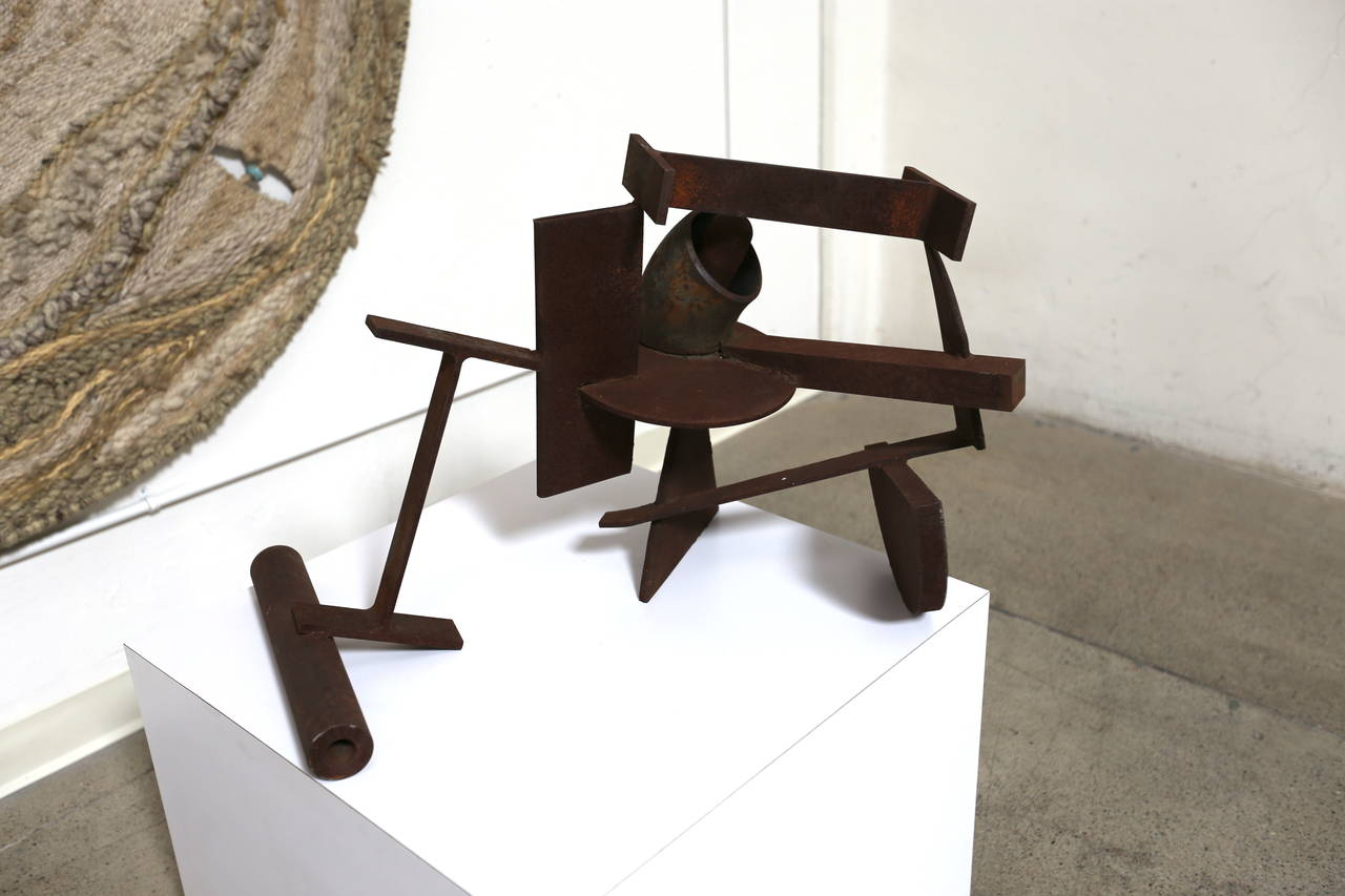 20th Century Abstract Steel Patinated Sculpture by Kim Nelson For Sale