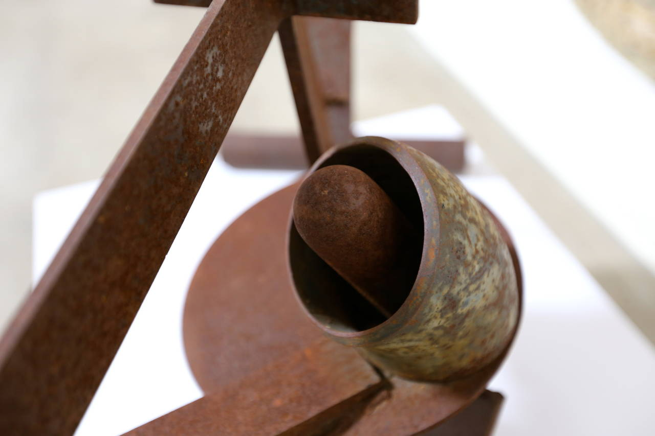 American Abstract Steel Patinated Sculpture by Kim Nelson For Sale