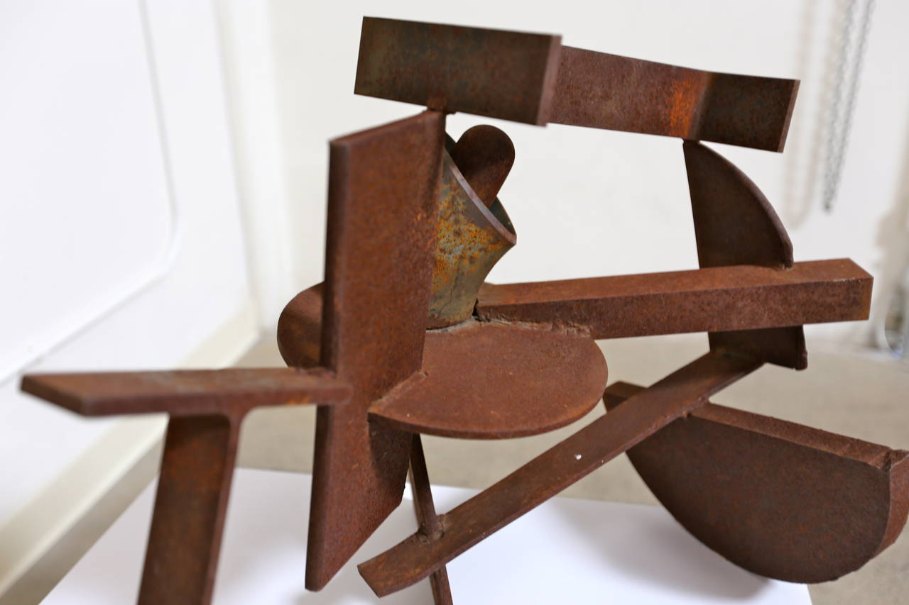 Modern Abstract Steel Patinated Sculpture by Kim Nelson For Sale