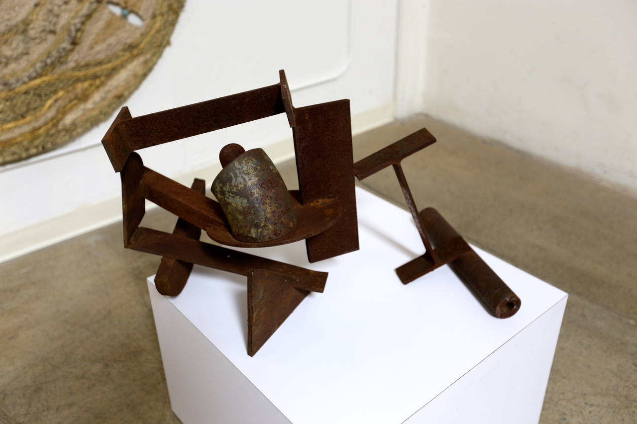 Abstract Steel Patinated Sculpture by Kim Nelson In Good Condition For Sale In Costa Mesa, CA