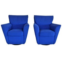 Pair Of Swivel Lounge Chairs By Weiman / Preview