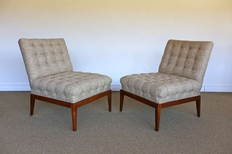 pair tufted slipper chairs oswald chair review threshold back thresholdtm gray