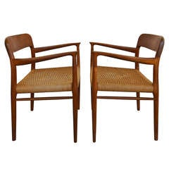 Pair Of Armchairs By Niels Moller For J.l. Moller