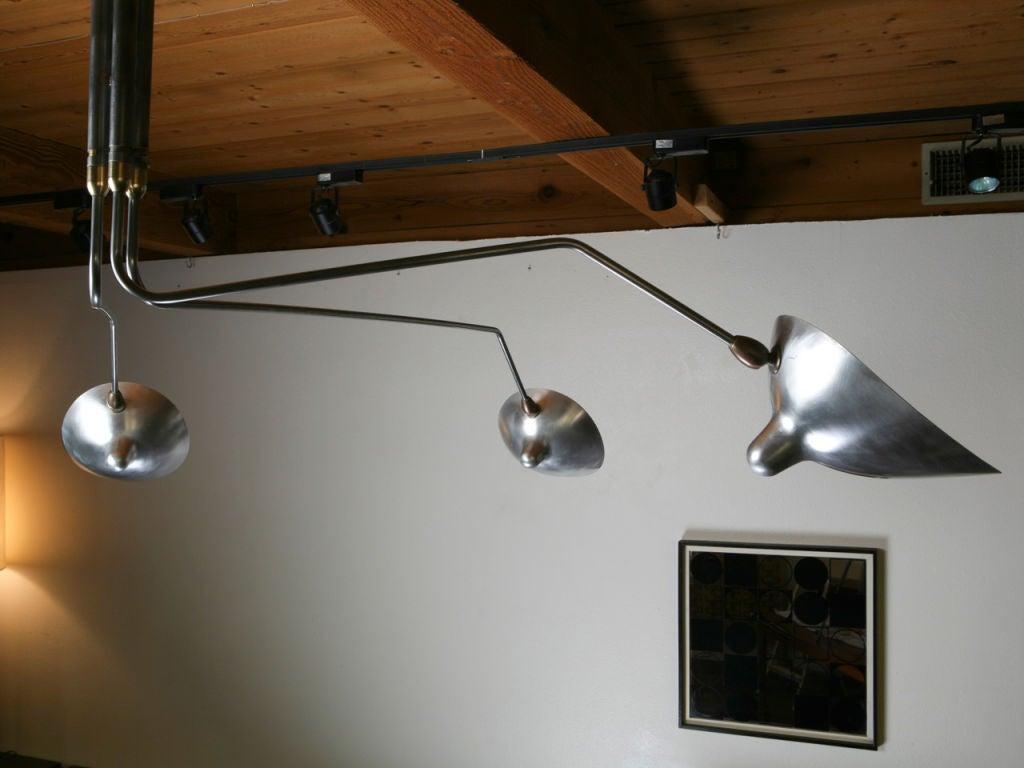 serge mouille three rotating arm ceiling lamp at 1stdibs. Black Bedroom Furniture Sets. Home Design Ideas