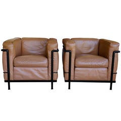 Pair of LC2 Le Corbusier Chairs for Cassina