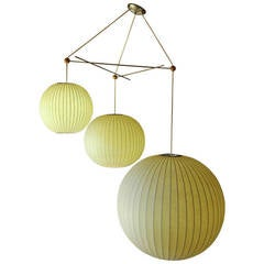 Rare Original Three - Tiered Bubble Lamp by George Nelson for Howard Miller