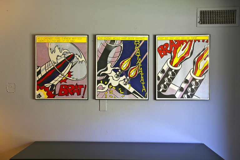 Roy Lichtenstein Quot As I Opened Fire Quot Triptych Three