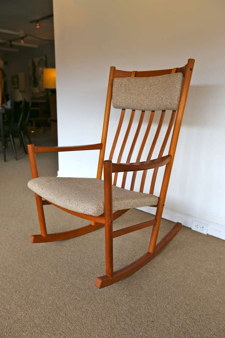 This Teak Rocking Chair Designed by Hans Wegner is no longer available ...