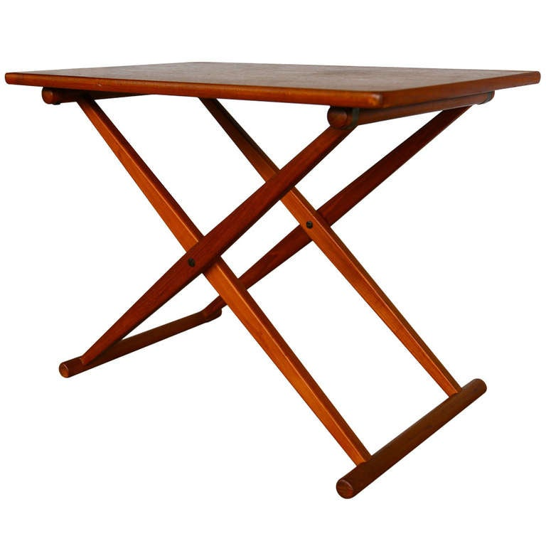 Danish Campaign Style Folding Side Table 1 - Danish Campaign Style Folding Side Table At 1stdibs