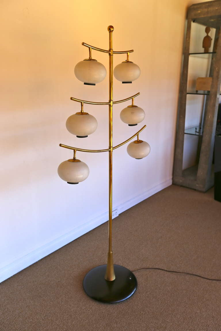 Three tiered brass floor lamp at 1stdibs for 3 tier floor lamp