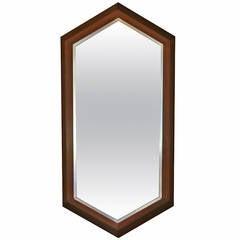Walnut Framed Mirror by Arthur Umanoff for Howard Miller