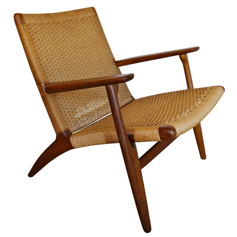 Ch 25 Lounge Chair By Hans Wegner For Carl Hansen At 1stdibs