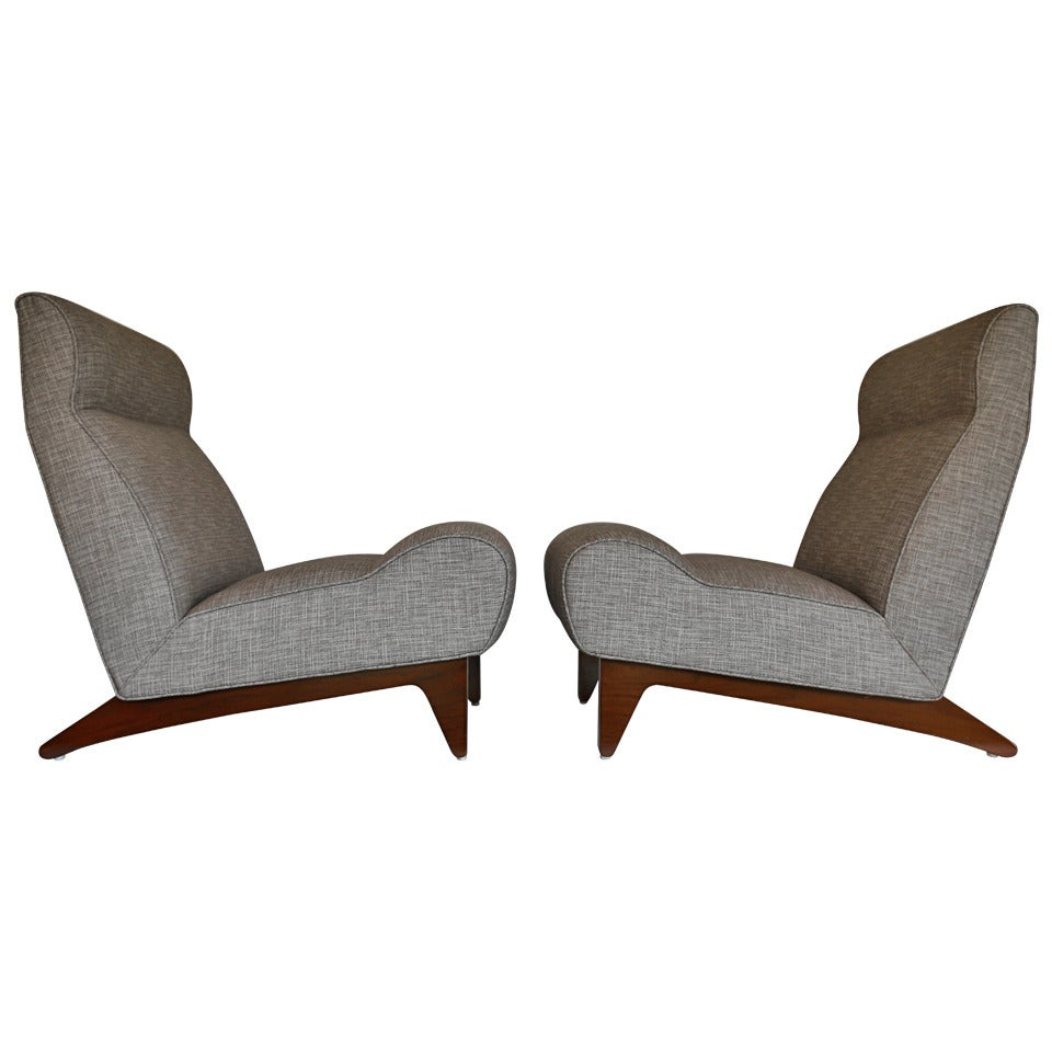 Rare pair of lounge chairs by edward wormley for dunbar at 1stdibs - Edward wormley chairs ...