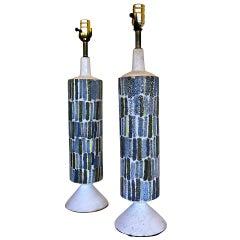 Pair of Raymor Ceramic Table Lamps