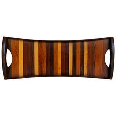 Mixed Woods Serving Tray by Don Shoemaker