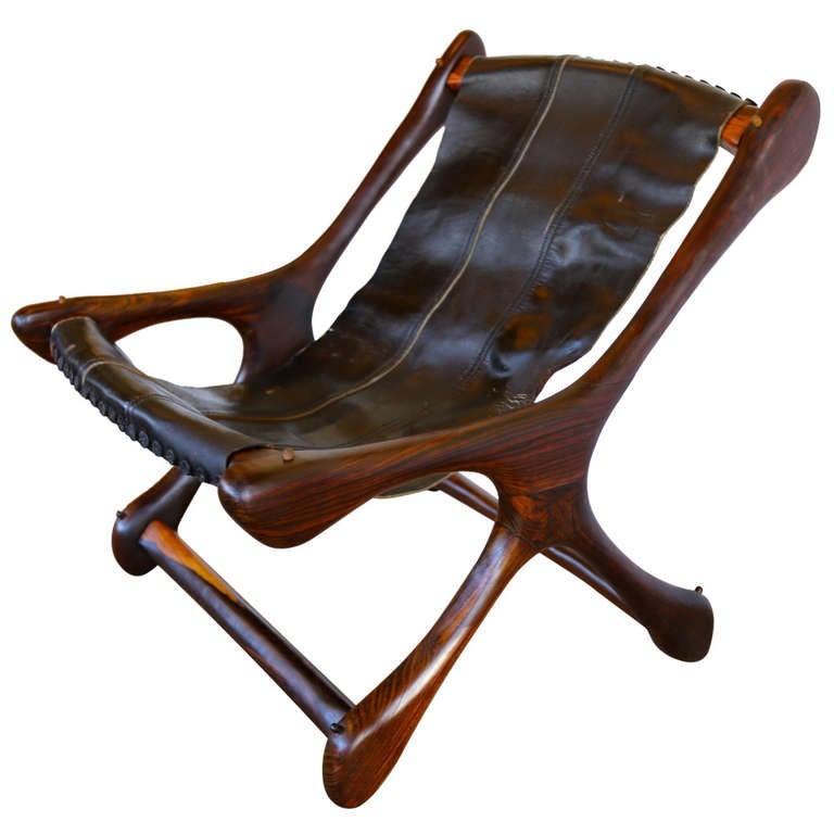 Don Shoemaker Sling Sloucher Lounge Chair at 1stdibs