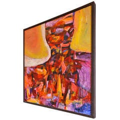 Large Abstract Painting Signed R Alexander At 1stdibs