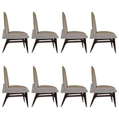 Set of Eight Custom Dining Chairs