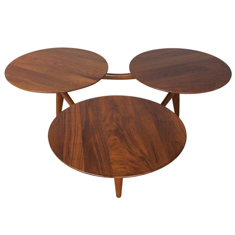 Solid Walnut Coffee Table: Solid Walnut Coffee Table Att: Greta Grossman At 1stdibs