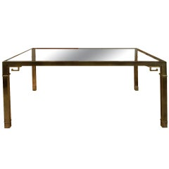 Brass and Glass dining table by MASTERCRAFT