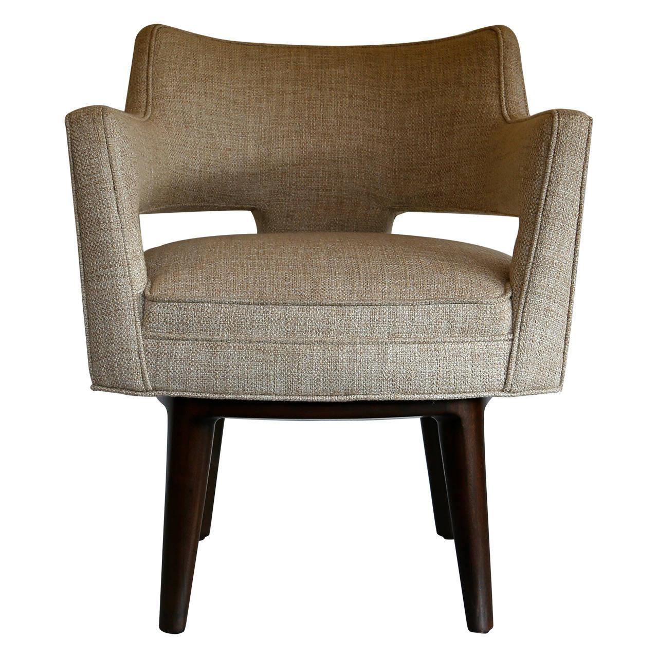 Swivel chair by edward wormley for dunbar at 1stdibs - Edward wormley chairs ...