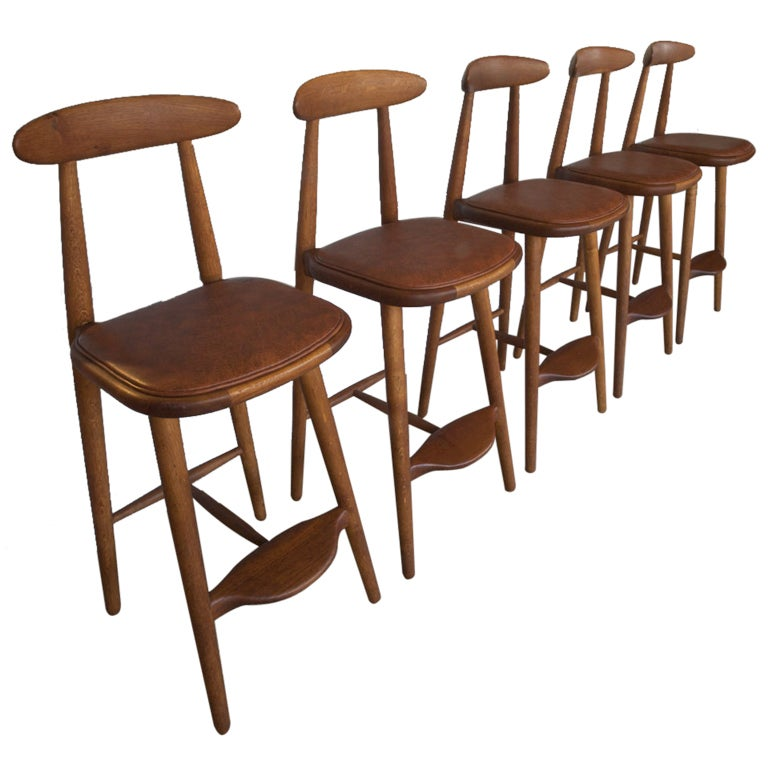 Barstools By Vilhelm Wohlert For Odense Mobelfabrik At 1stdibs