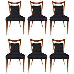 Rare Set of Six Dining Chairs by Melchiorre Bega