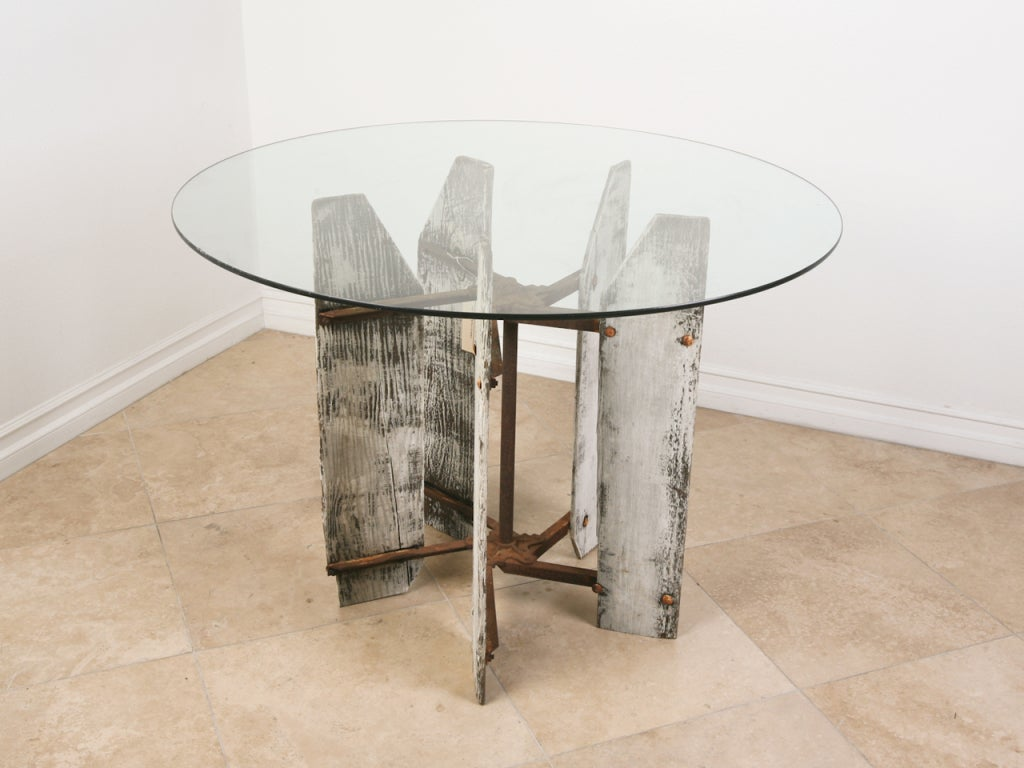 Vintage Industrial Dining Table at 1stdibs