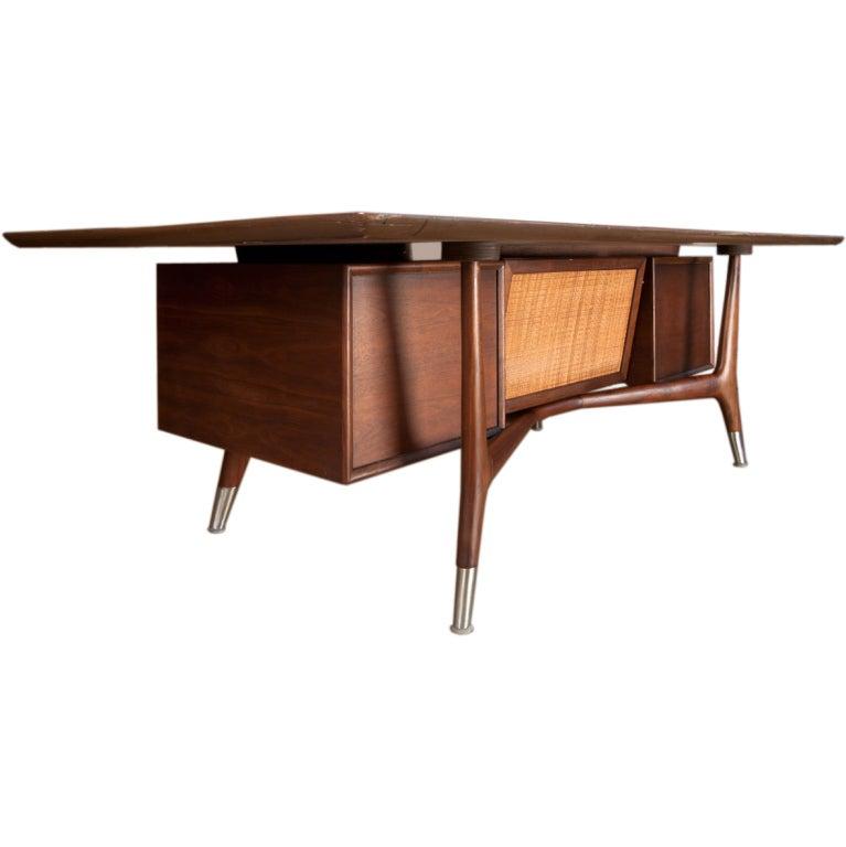 Dynamic American walnut executive desk