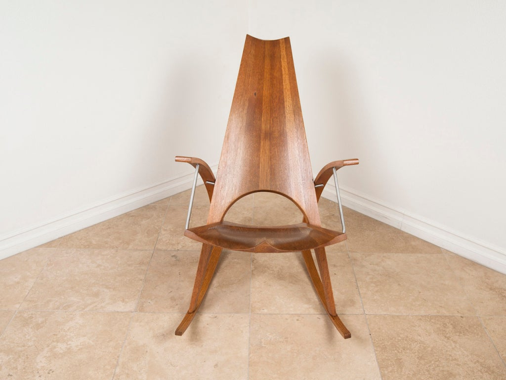 Studio crafted rocking chair by architect leon meyer at Leon meyer