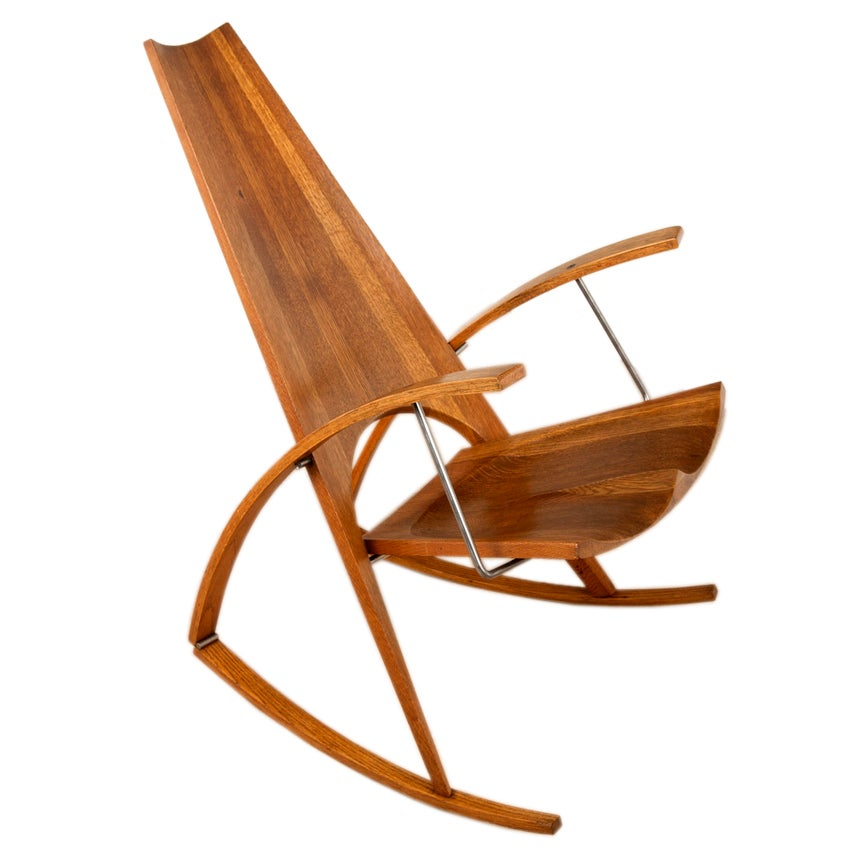 Studio Crafted Rocking Chair By Architect Leon Meyer At