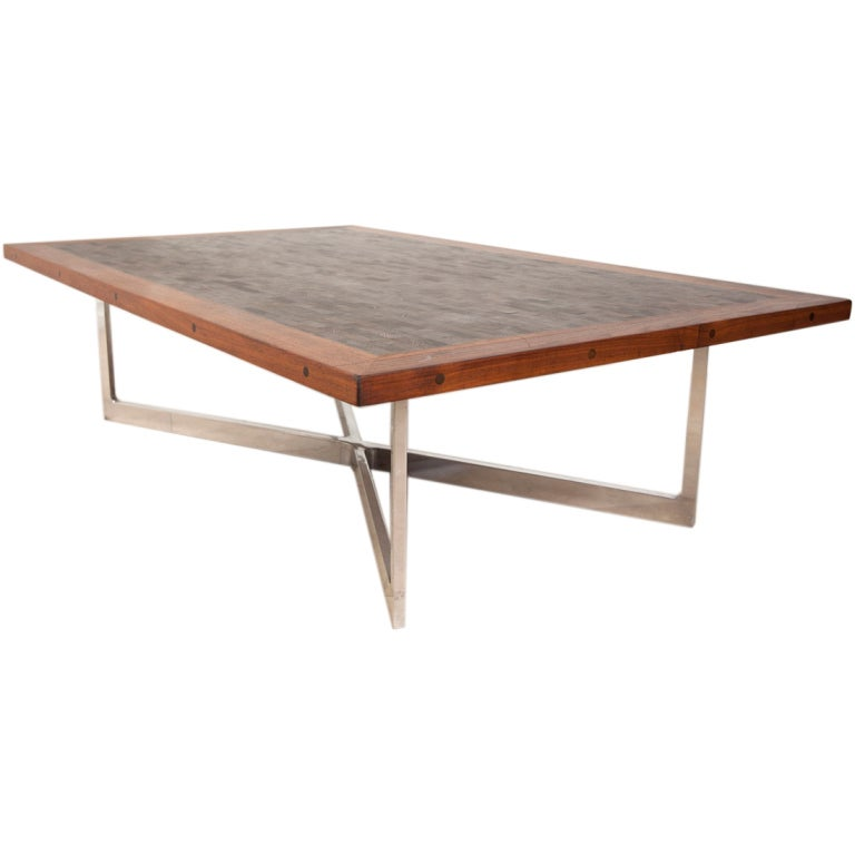 Studio Crafted X Base Walnut Coffee Table At 1stdibs