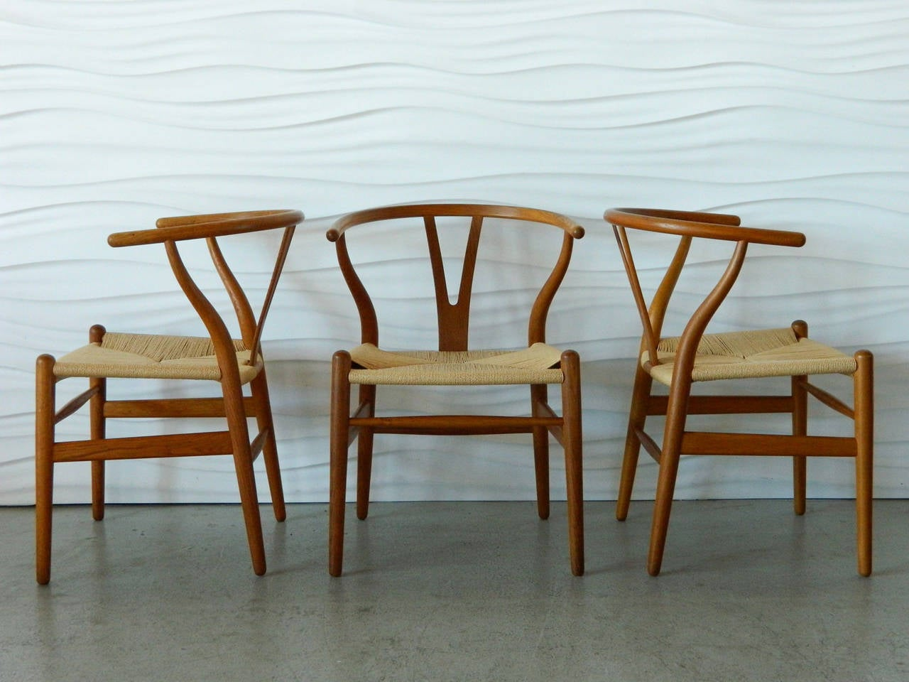 Hans Wegner Teak Wishbone Chairs 2 - Hans Wegner Teak Wishbone Chairs At 1stdibs