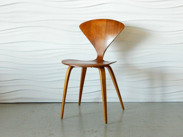 norman cherner molded plywood chair for plycraft 2