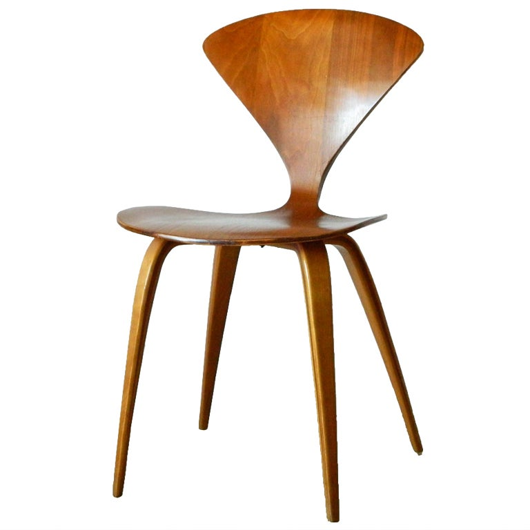 Elegant Norman Cherner Molded Plywood Chair For Plycraft 1