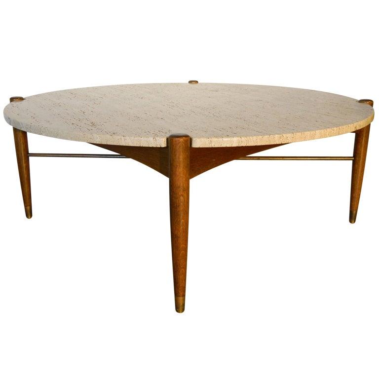 Bruno Mathsson Travertine Marble Coffee Table At 1stdibs