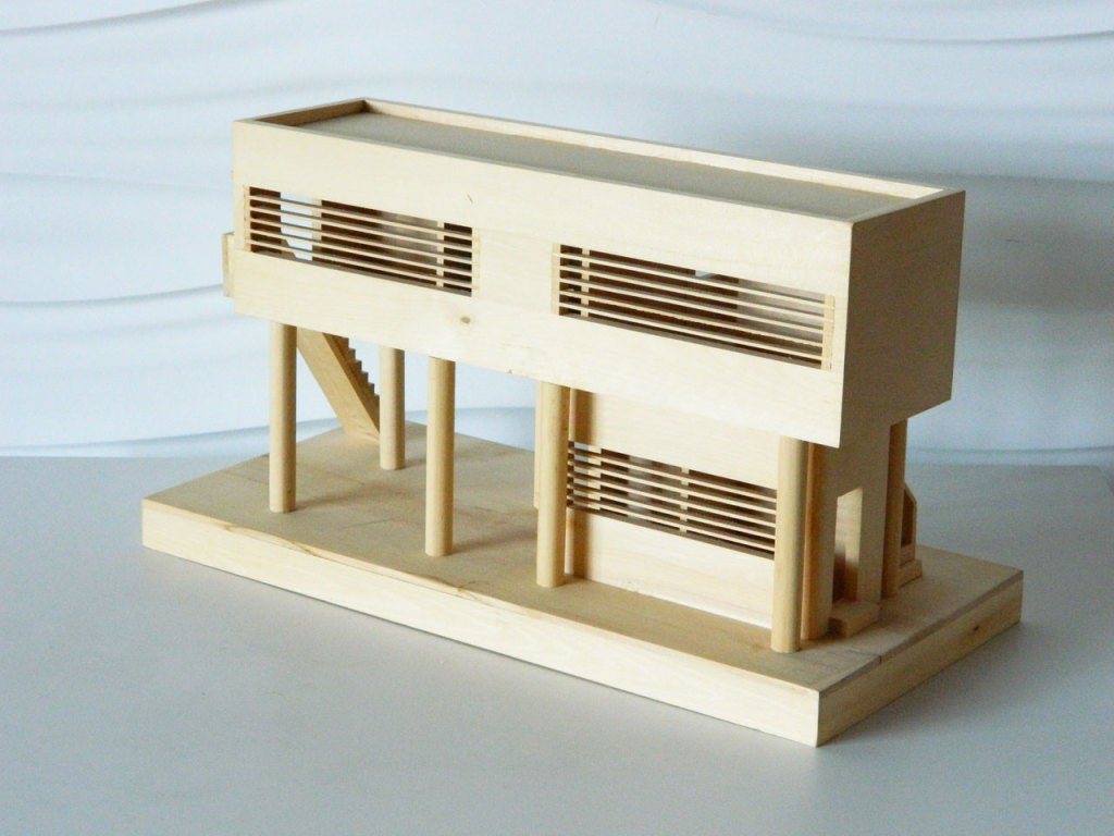 Architectural model of modern beach house at 1stdibs for Architecture house models