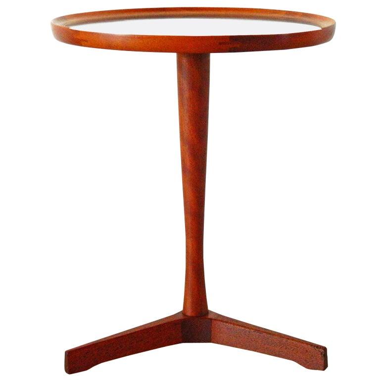 Hans C Andersen Teak Tripod Side Table 1