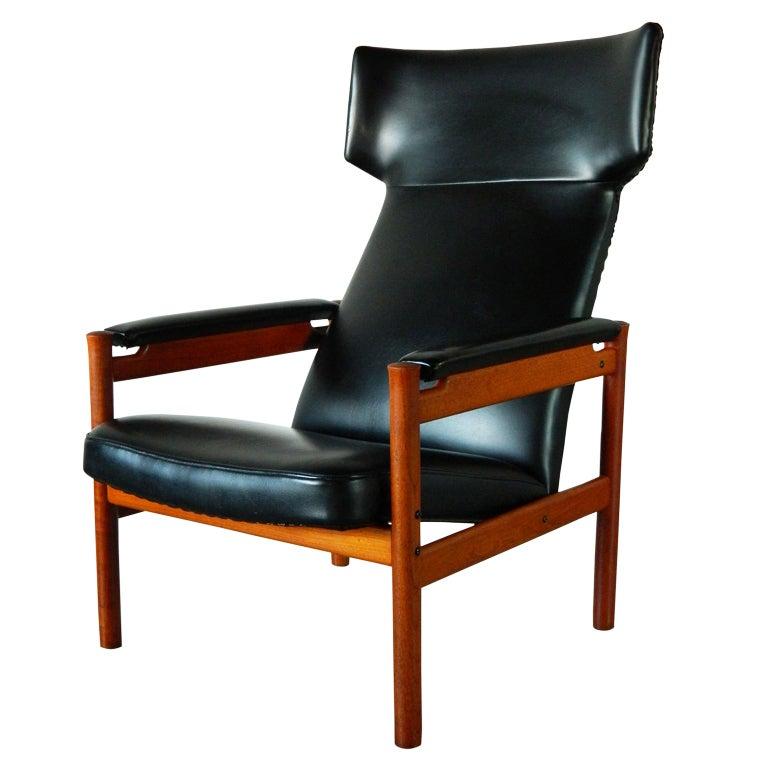 1960s Missoni Wingback Chair At 1stdibs: Fritz Hansen Danish Teak Wingback Chair